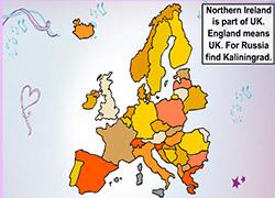Violetta geografia